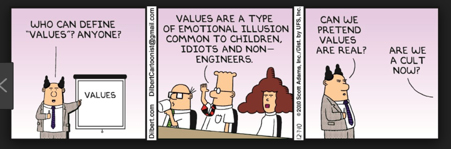 Dilbert on Corporate Values