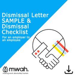 Dismissal Letter & Checklist