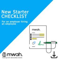 New Starter Checklist